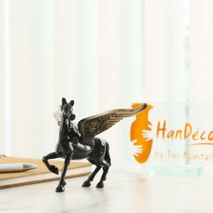 Flying Angel Horse - Black