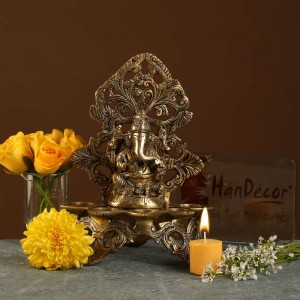 Panchdeep Ganesha Carving Stand