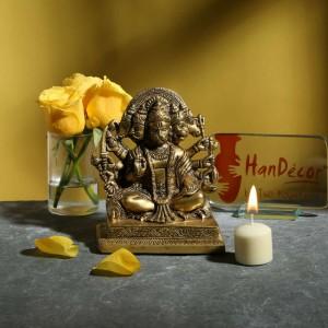 Brass Panchmukhi Hanuman in Aashirwaad Mudra