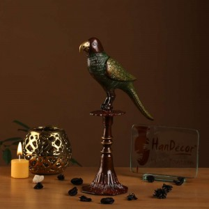 Parrot on Stand Showpiece