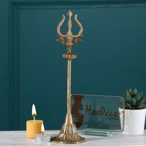 Two Moustaches Brass Shiva's Trishul - 8 Inches