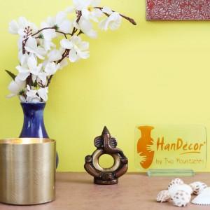 Ring Ganesha Multicolored Brass Showpiece