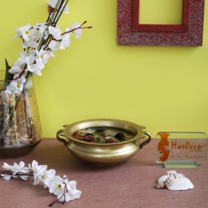 Brass Urli Traditional Bowl Showpiece