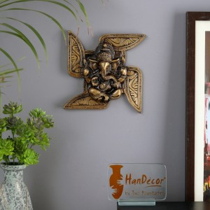 Ganesha Swastika Wall Hanging