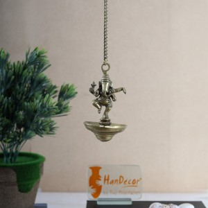 Dancing Ganesha Hanging Diya