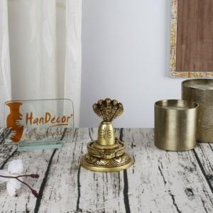 Premium Brass Shivling with Sheshnaag
