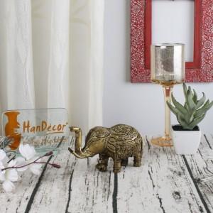 Brass Elephant with Bell Showpiece