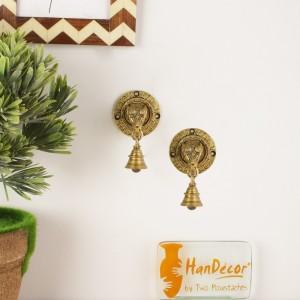 Elephant Face Wall & Door Brass Decorative Bell Pair