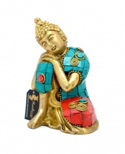 Buddha Resting Gemstone Showpiece