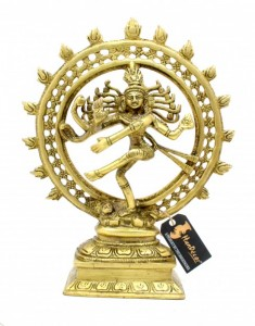 Divine Lord Natraj 9 Inches Brass Showpiece