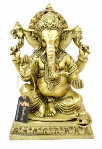 Chaturbhuja Ganesha 10 Inches Brass Statue