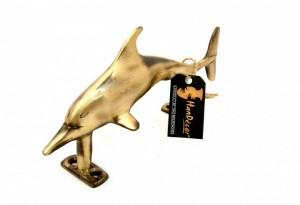 Dolphin Design Brass Door Handle