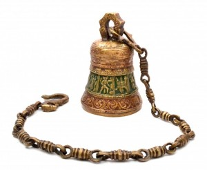 Ethnic Indian Gods on Brass Multicolored Hanging Bell