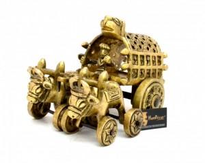 Traditional Village Bullock Cart Showpiece