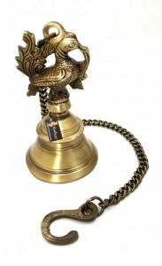 Peacock Design Brass Hanging Bell