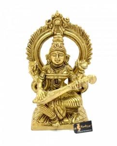 Aashirwaad Saraswati Brass Statue