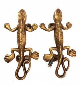 Lizard Design 6 Inches Door Handle Pair