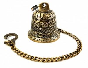 Ethnic Carved Brass Temple Hanging Designer Bell