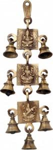 Ganesh Laxmi Saraswati Hanging Bells
