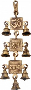Om Shubh Labh Hanging Bells