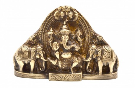 Gaja Ganesha idol - Lord Ganesha with elephants