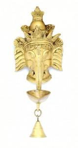 Crown Ganesha Deepak with Bell