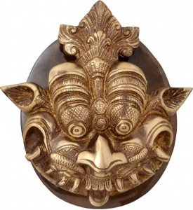 Dragon Face Door Knocker With Plate Base