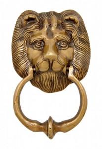 Lion Face Door Knocker