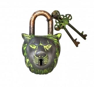 Lion Door Lock  Brown