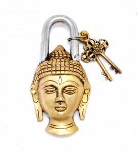 Buddha Door Lock Golden