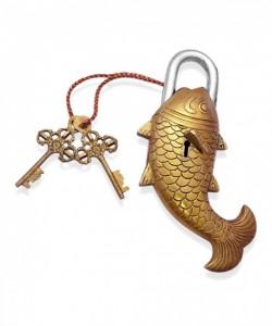 Fish Design Door Lock Golden