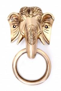 Brass Tuskar Ganesha Door Knocker