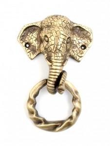 Elephant Design Moulded Ring Door Knocker