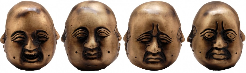 Brass Multi Expressions Buddha Paper Weight