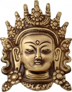 Brass Tara Devi Face Wall Hanging