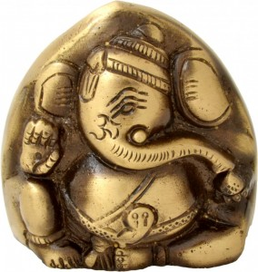 Brass Two Faced Ganesha Paperweight