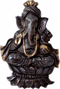 Black Pagri Ganesh Wall Hanging
