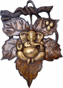 Ganesha on Grape Leaf