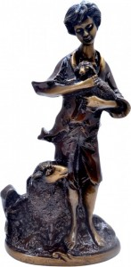 Shepherd and Lambs Showpiece