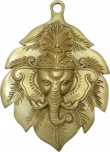 Ganesha Face On Leaf