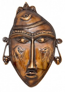 Tribal Man Mask Golden