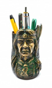 Red Indian Pen Stand - Green