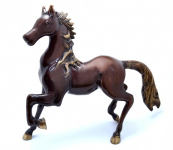 Horse Showpiece - Brown