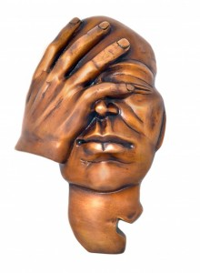 The Thinking Man Wall Hanging Showpiece - Brown