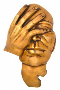 The Thinking Man Wall Hanging Showpiece - Golden
