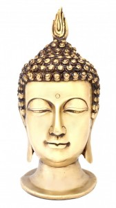 Calm Buddha Head Showpiece - Golden
