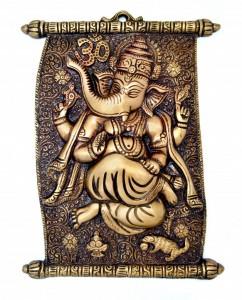 Scroll Design Ganesha Wall Hanging