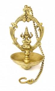 Laxmi Hanging Oil Wick Brass Diya