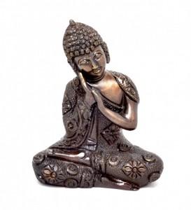 Buddha Resting Premium Brass Brown Showpiece