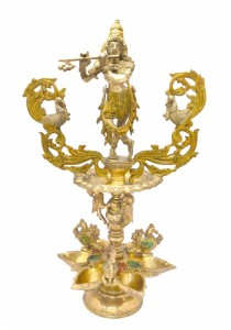 Krishna Brass Oil Lamp